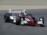 Tony Kanaan slides in the hairpin