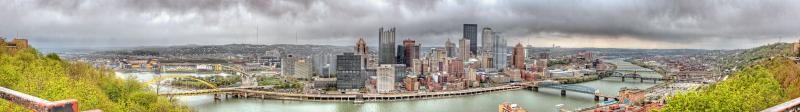 rainy pittsburgh (about 180 degree panorama) 28 April 2005