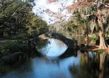 Stone bridge over bayou
