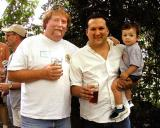 Dave Pyle with Christian Parker and son Christian, Jr.