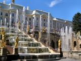 St. Petersburg Russia - Peterhof palace - fountains are naturally fed, No Pumps!