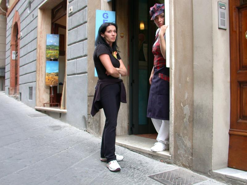 Bored Shopkeepers in Montepulciano