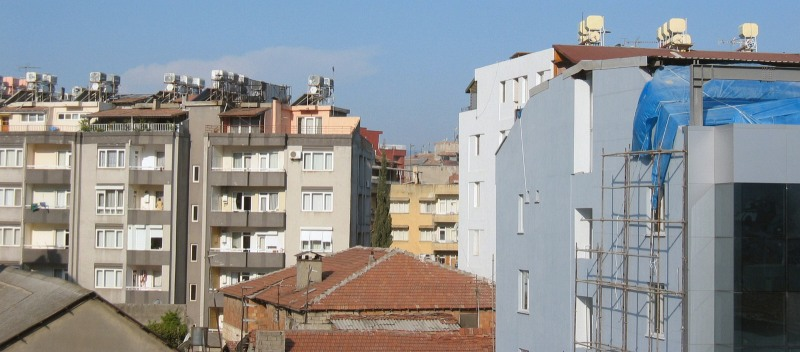 Solar water-heating?, in Antakya from the hotel.