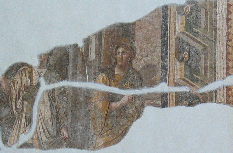 Unlike some at Gaziantep / Zeugma, these floor mosaics are on the wall.