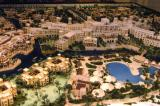 Architectural model of the gulf side of the Al Qasr Hotel, Madinat Jumeirah