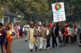 A protest march in New Delhi