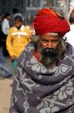 Man in red turban, Old Delhi, India