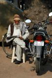 Man reading, Delhi