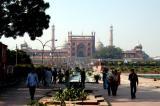 Walking from the Red Fort to Juma Masjid, Delhi