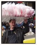 What would a parade be without cotton candy?