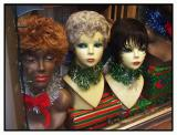 A wig for the New Year? These are decorated for the holidays.