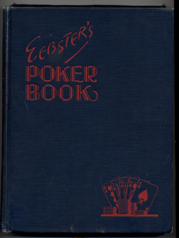 Websters Poker Book (with drawer but without jacket)