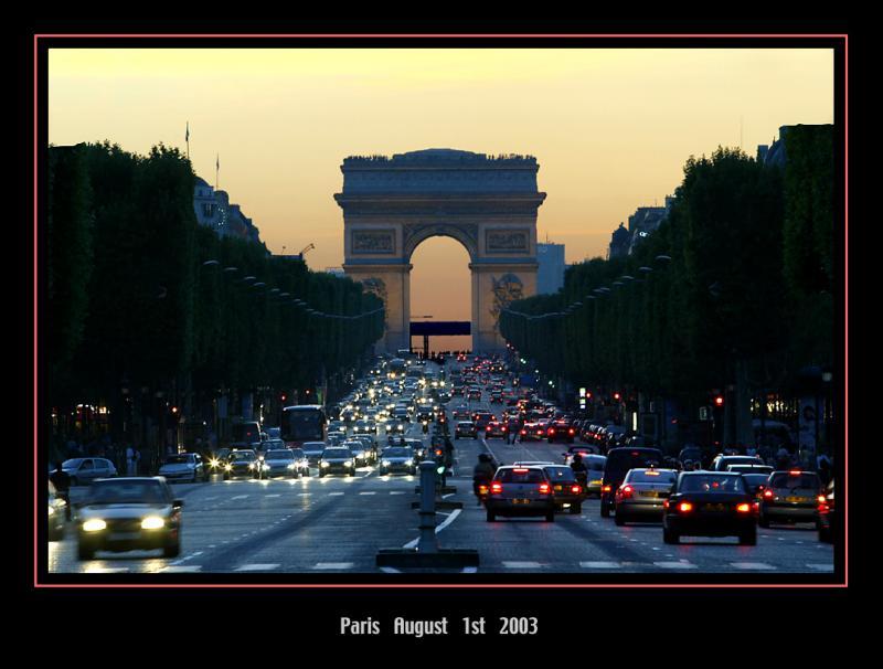 Sunset over the Champs-Elysées