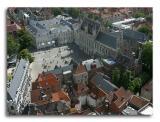 La place du Bourg et l'hôtel de ville