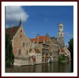 Bruges - Le Quai du Rosaire et le Beffroi
