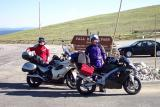 Jerry Layman and Bob Dombrowe at the Alpine center at the top of Estes park (Hwy 7 at 11,749 ft)