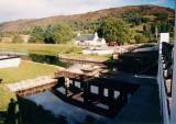 Arberchalder Swing Bridge on the Caledonian Canal