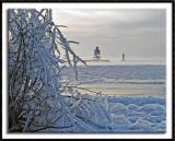 Cold, Windswept Grand Marais Harbor