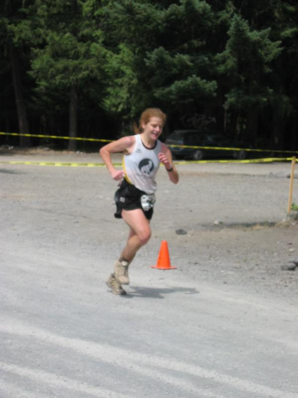 <br>Nikki Kimball</br> <br>1st woman -- course record 7:46:33</br>