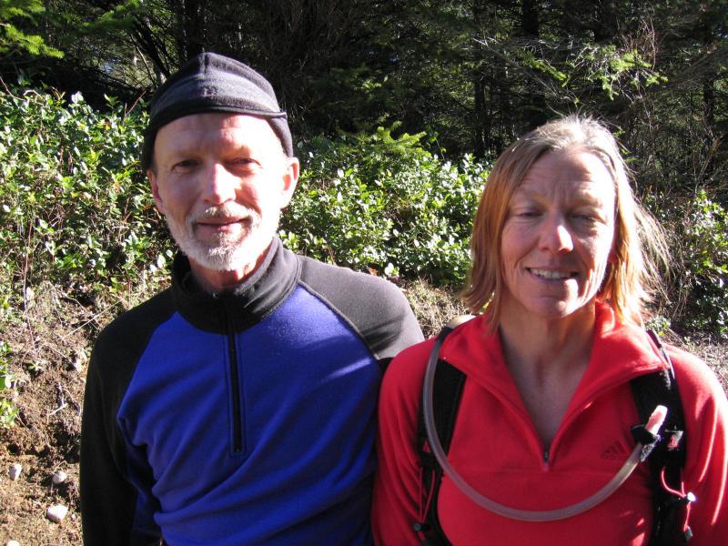 Rick Haase & Cheri Pompeo on the climb to T3