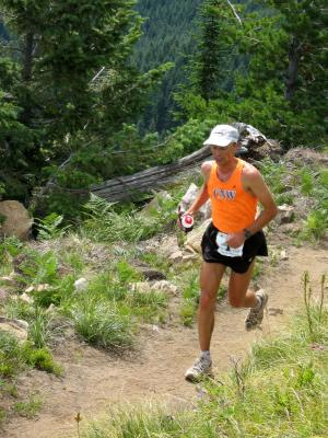 Uli Steidl<br>~20 minute lead over 2nd place at 38 miles<br>