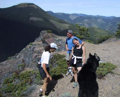 Scott, Charlie, Leah & Tonto - Sun Top in the background