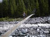 Me on the Carbon Glacier suspension bridge (RN)