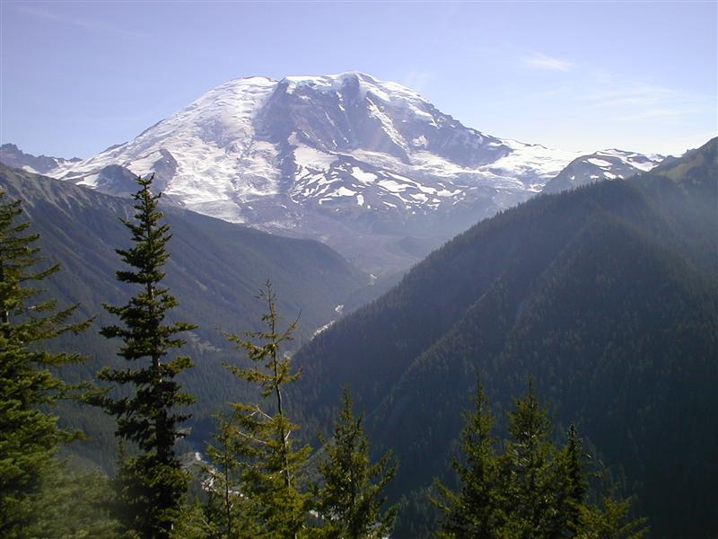 Mt. Rainier toward Winthrop Glacier & West Fork White River (RN)