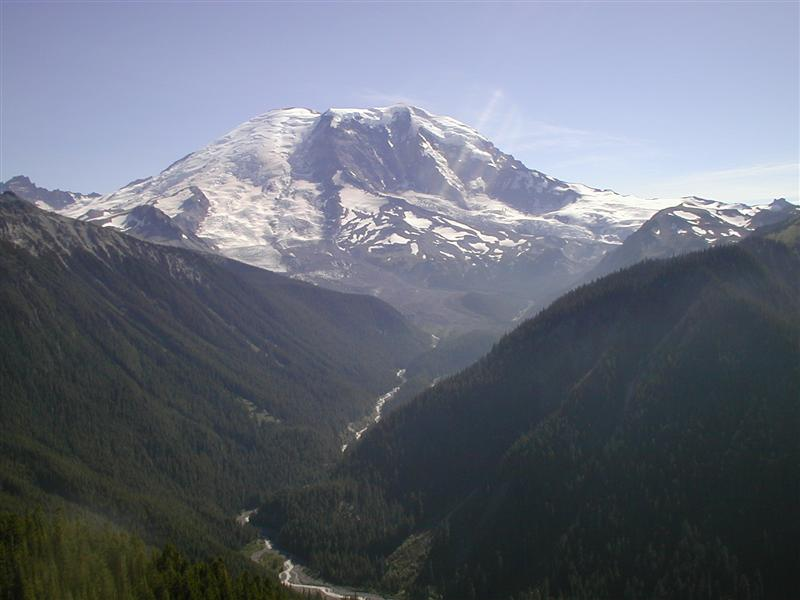 Mt. Rainier - toward Winthrop Glacier & West Fork White River - further up the trail (RN)