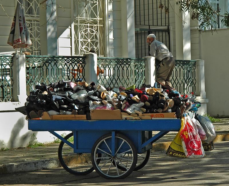 The shoe salesman, or, taking a break
