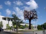 A steel tree grows in Las Lomas...