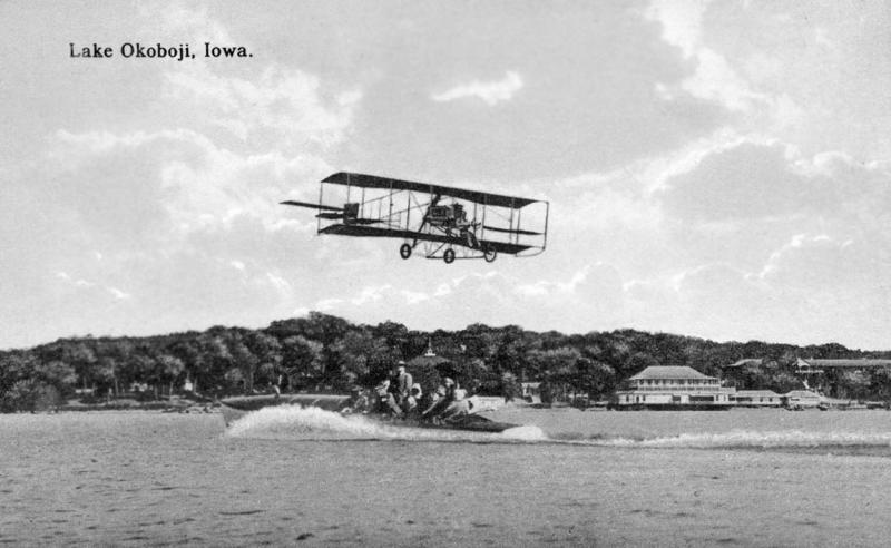 Biplane on West Okoboji