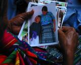 reviewing photographs, antigua, guatemala