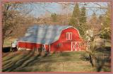 Modern barn, classic red.