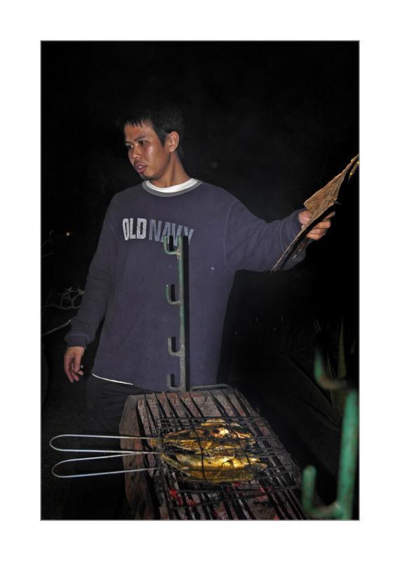 menggoreng saham.. eh membakar ayam