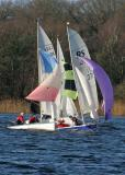 Great Frensham Pond with EF 55-200 - Sailing