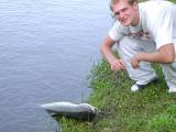Tim brings the beast ashore