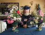 Don, my significant other...with some flower arrangements he put together...