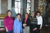 Karen, Deb, carolyne, Trudy and Cheryl in the Hall of Mirrors