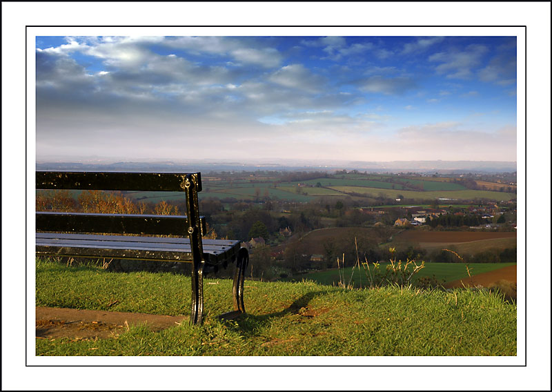 Seat on the south side ~ Ham Hill, Somerset