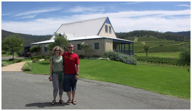 Paul and Jane Outside Ivanhoe Wines Hunter Valley