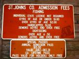 50 cent admission fee just to walk on the St John's Co. Pier