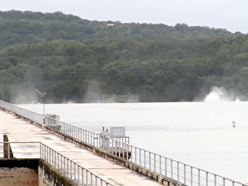 Medina Dam - Spillway Overflows