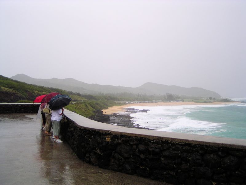 Wet view of Sandys