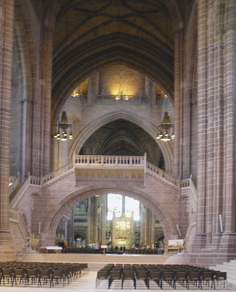 Full length West to East Liverpool Cathedral