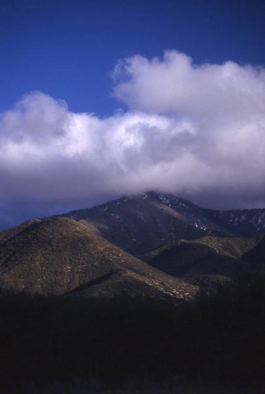 Clouds near Mount Gleason