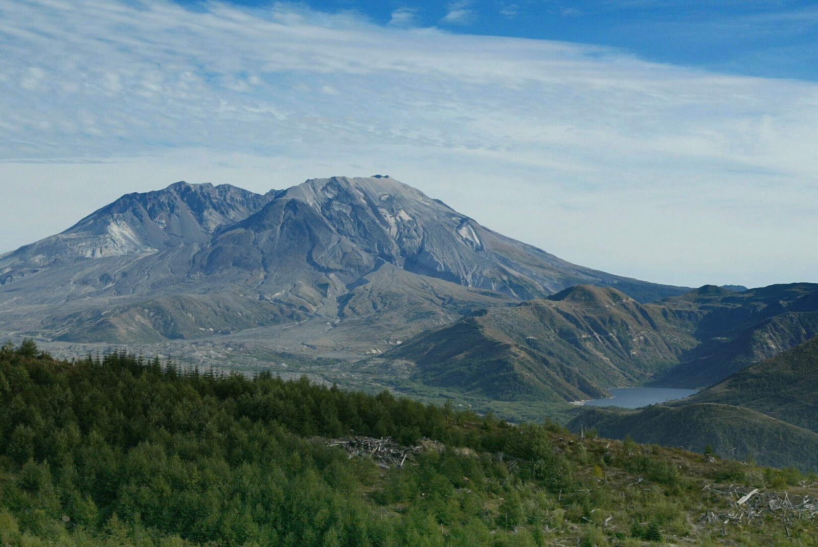 Mt. St. Helens and Lake view