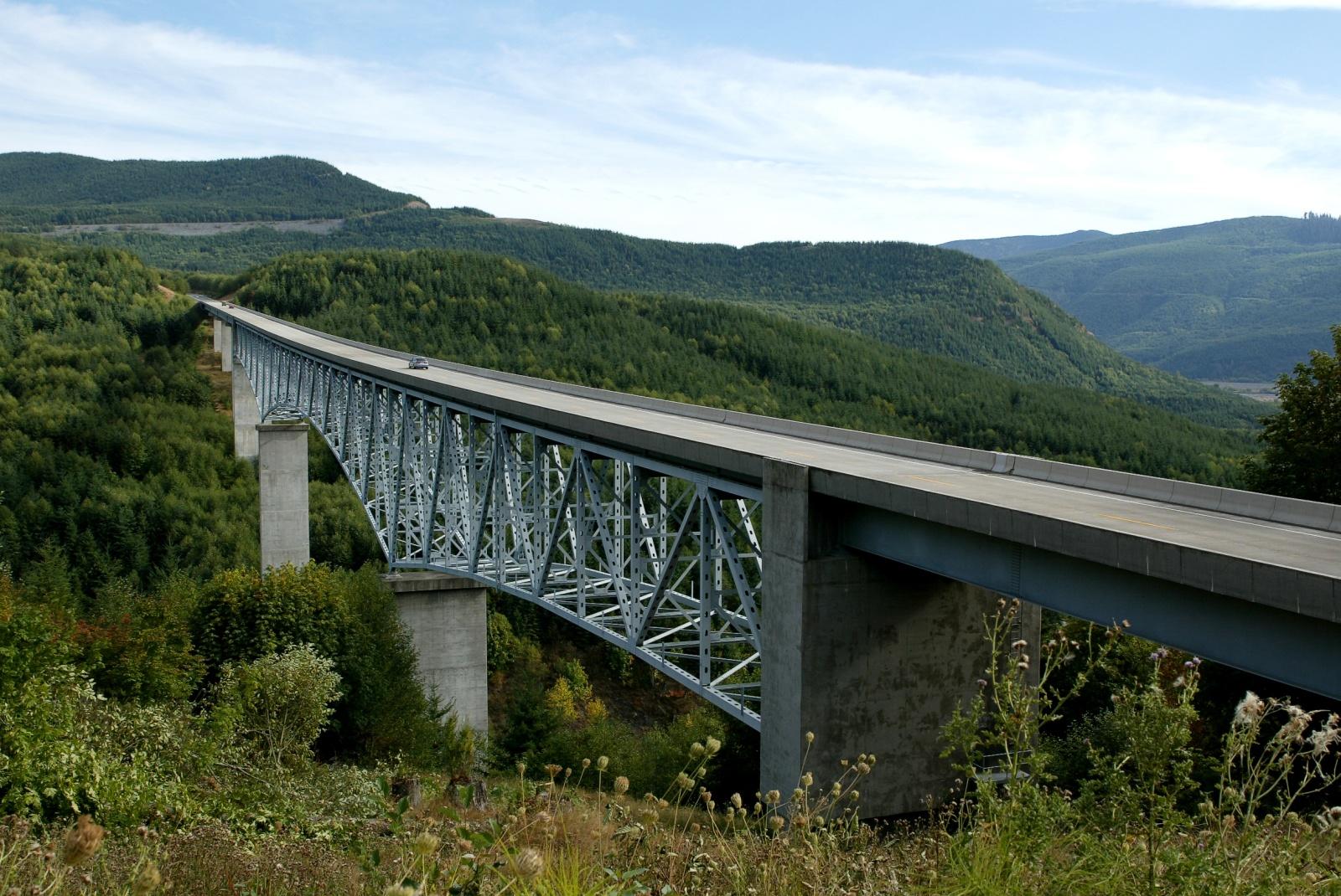 Bridge to Mt. St. Helens
