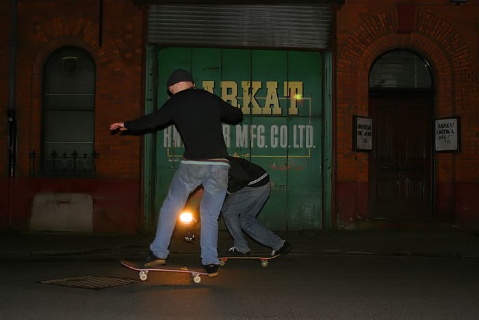 january 4: nightskating in the northern quarter