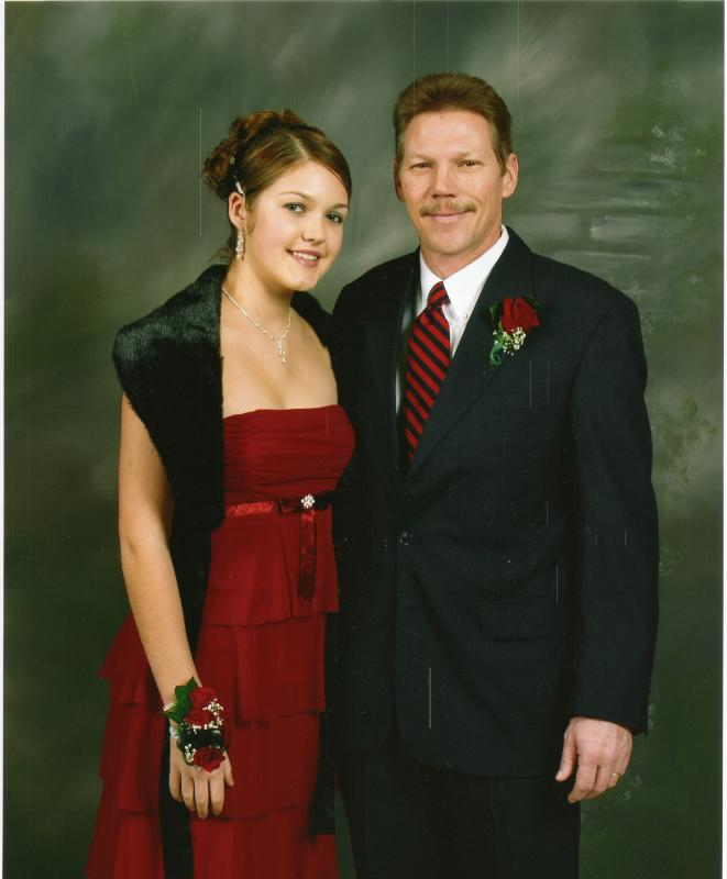 Greg and Meghan at father-daughter freshman